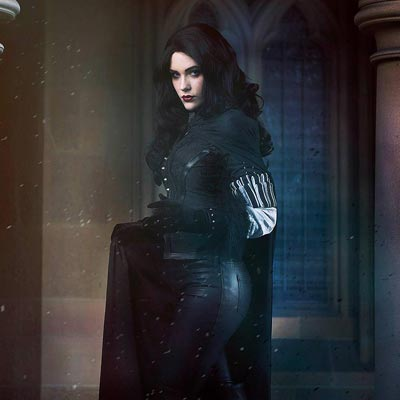 Sorceress Yennefer  in The Witcher videogame