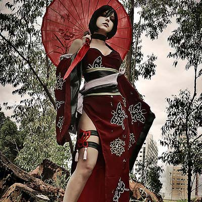 Ada Wong Shermie cosplay from Onimusha Soul