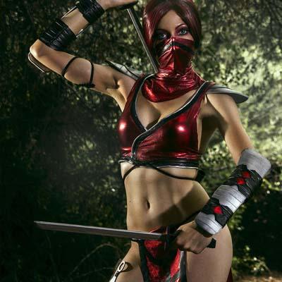 Red rain falls on Mortal Kombat's Skarlet - Cosplay My Game