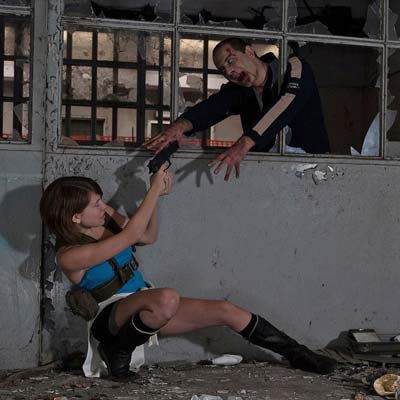 Jill Valentine and Nemesis from Resident Evil 3
