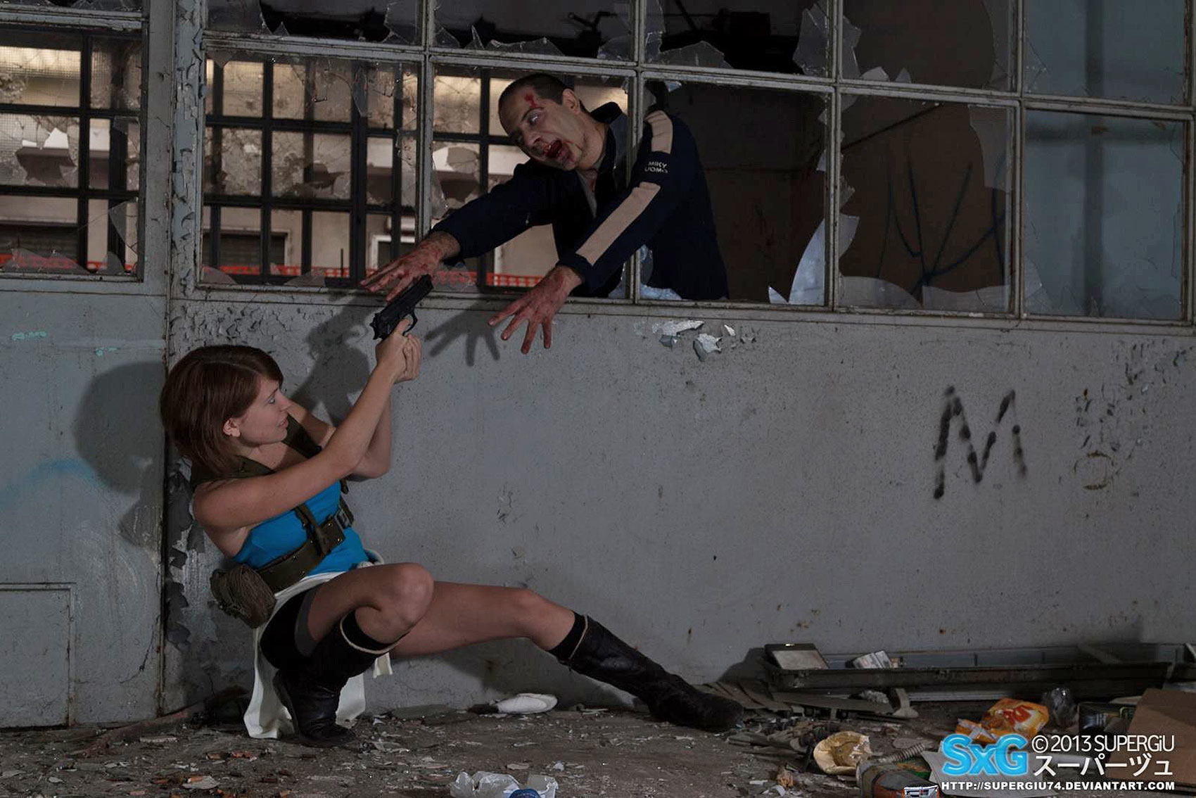jill valentine and nemesis from resident evil 3 cosplay