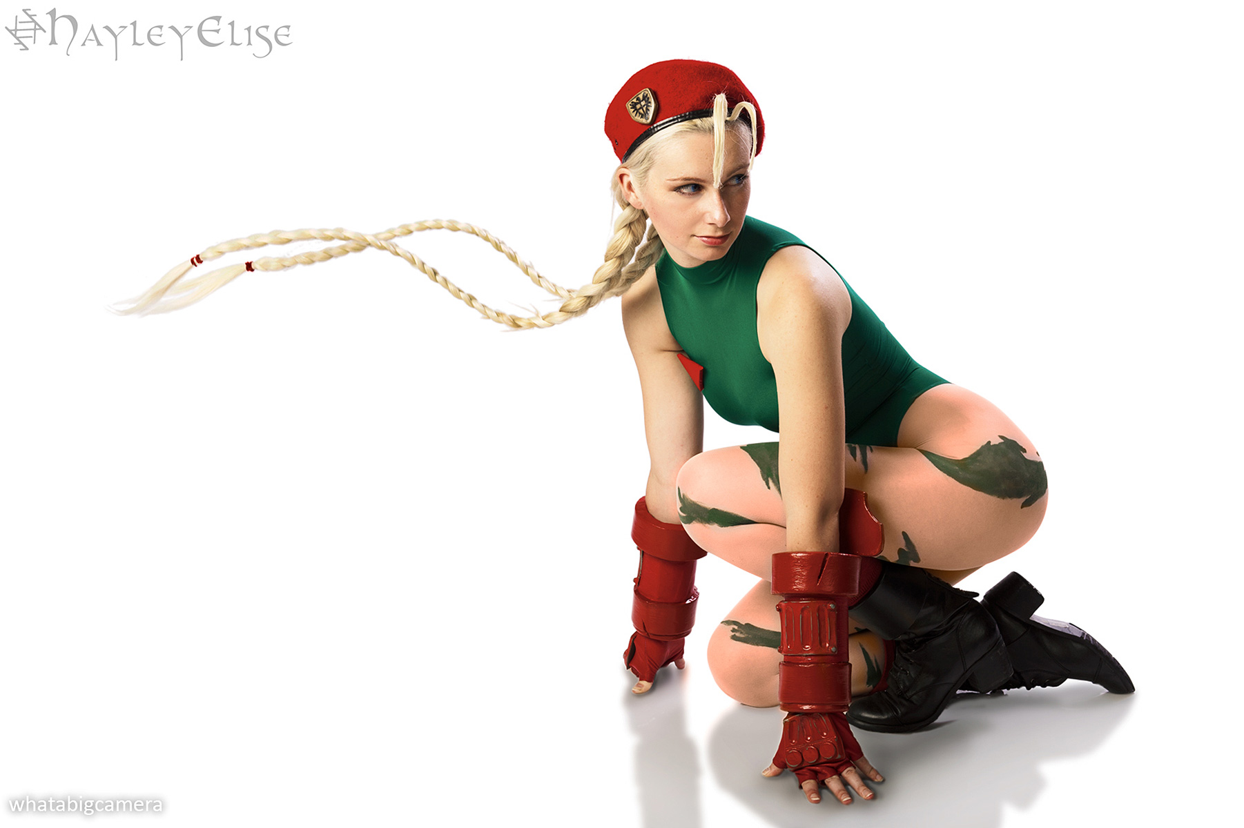 Cammy White cosplay from Capcom's Street Fighter video game