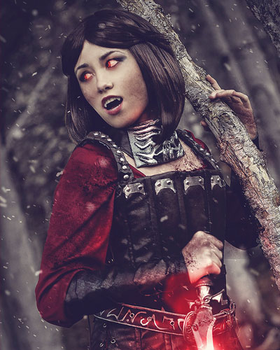 Serana vampire in Skyrim video game cosplay
