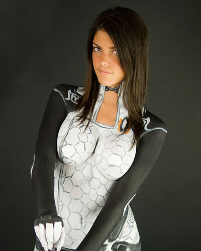 Miranda Lawson in Mass Effect video game cosplay from Bioware