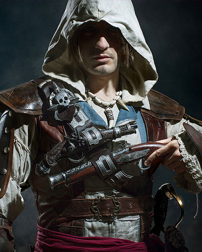 Edward Kenway in Assassin's Creed Black Flag video game cosplay