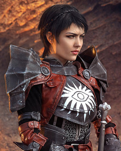Cassandra Pentaghast in Dragon Age Inquisition video game cosplay
