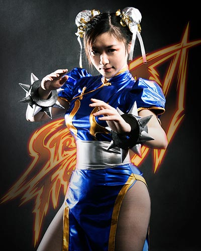 Chun-Li in Street Fighter video game cosplay