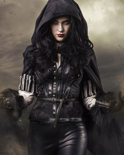 Sorceress Yennefer of Vengerberg in The Witcher Video Game Cosplay