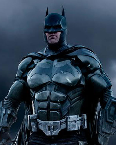 Batman the caped crusader in Arkham Video Game Cosplay