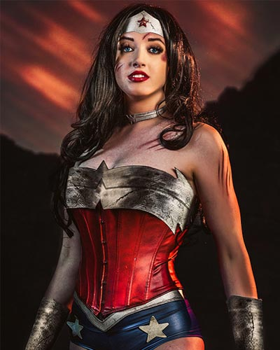 Callie Cosplay is Amazon warrior Princess Wonder Woman