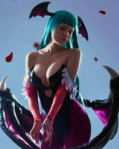 Succubus Morrigan Aensland captures the spirit of Darkstalkers