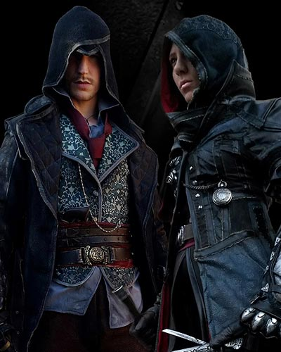 Rick and Dominique Boer cosplay the twins Frye in Assassin's Creed Syndicate cosplay